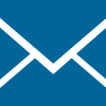 envelope blue