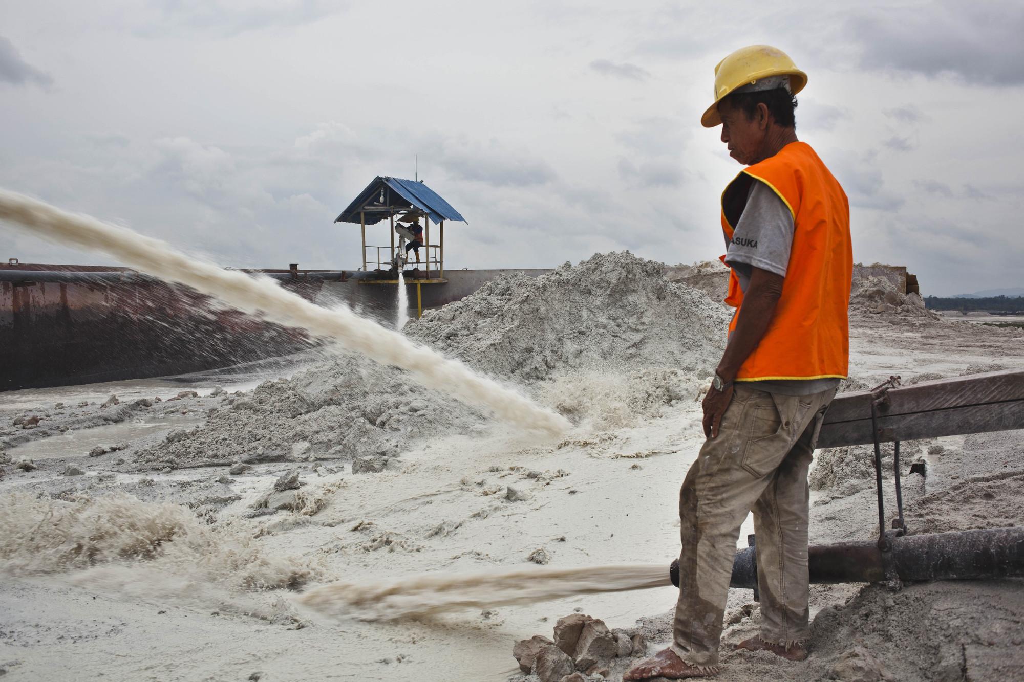 Bangka Island Indonesia Tin Mining