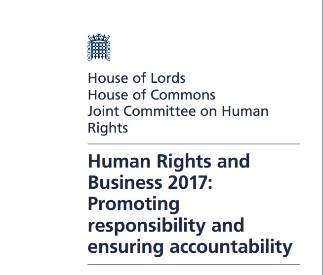 UK Parliament's Human Rights Committee calls for new laws to stop company human rights abuse