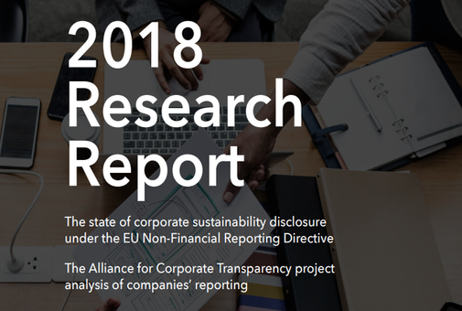 Alliance for Corporate Transparency - 2018 Research Report