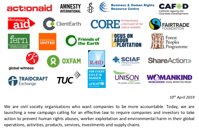 UK NGOs and unions call for new law to curb multinationals' global abuses