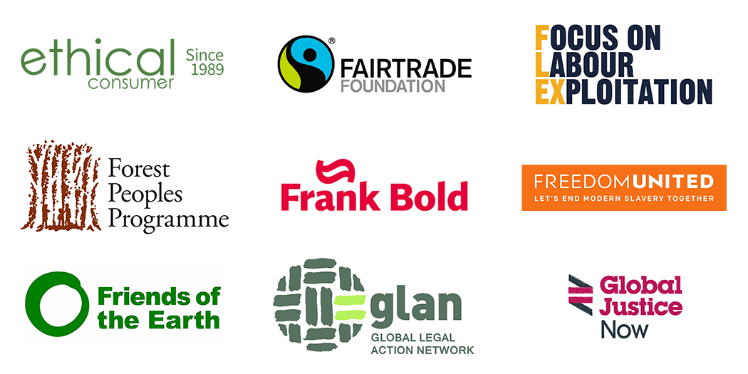Partner Logos of the Corporate Justice Coalition